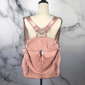 Pink leather backpack purse NWT